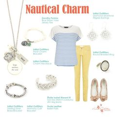 Get the Nautical look!! Experience Initial Outfitters!  The collection is fabulous! From classic pearls and monogrammed and personalized engraved jewelry, to the hottest new trends! We also have scarves, gifts for baby, home accessories, embroidered handbags and accessories – even monogrammed car decals! www.facebook.com/iowithdebra