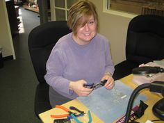 Susan finishing up a project at her favorite #bead store, Brea Bead Works