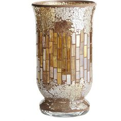 Pier One Champagne Mosaic Hurricane - Large ($22) ❤ liked on Polyvore