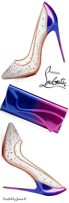 Christian Louboutin 2015 | Follies Strass Pump and Pigalle Clutch