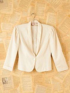 Vintage White Princess Jacket at Free People Clothing Boutique - StyleSays