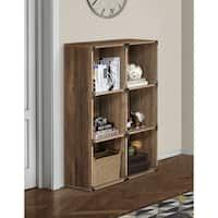 Shop Chamberlain Oak-Finish Linen Tower Storage Cabinet by Elegant Home Fashions - On Sale - Overstock - 7233234