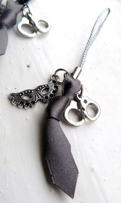 50 Shades Inspired Zip Pull Charm