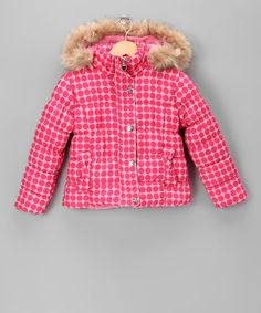 Take a look at this Pink Polka Dot Quilted Coat - Girls by Hit the Slopes: Kids' Outerwear on #zulily today!