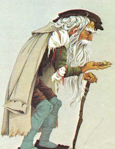 Jack and the Beanstalk Vintage Illustration Storybook Print
