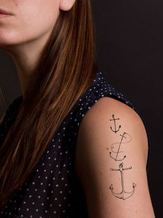 "Say ""arrr!"" with a nautical temporary tattoo."