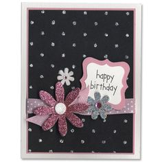 Flower Sign- Black & Pink birthday