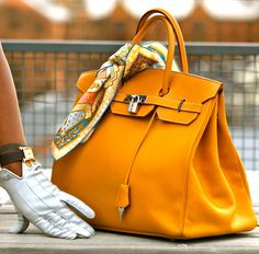 Birkin, accessorize with your favorite Hermes scarf.
