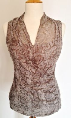 Kenneth Cole New York Gray Python Snakeskin 2 Piece Cami Knit Top Blouse Small - Recycled Couture #Fashion #Apparel #Shopping #eBay