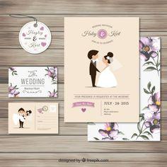 12 templates de convites de casamento - grátis