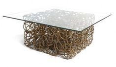 Josh Urso - resin covered military-grade rope holds up this contemporary coffee table