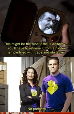 Combining Warehouse 13 and Legends of the hidden temple. Amazing.