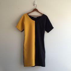 Vintage 90's Japanalia Body Con Dress / Spandex by vintspiration