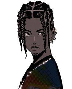 Swag Cartoon, Dope Cartoon Art, Fantasy Character Design, Character Design Inspiration, Character Art, Black Cartoon Characters, Fantasy Characters, Black Girl Art, Black Boys