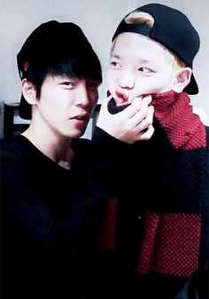B.a.p Himchan x Zelo Daehyun, Bap Zelo, Himchan, Youngjae, Kpop Groups, Kpop Boy, Bap Funny, Love K, Cnblue