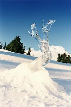 Ladies Legs Ice Sculpture
