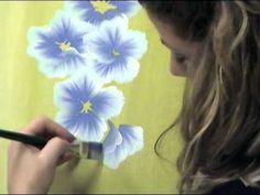 Pittura One Stroke Painting di Marzia Di Somma. Come dipingere i fiori di campo o Anemoni di campo.