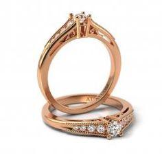 Inel de logodna aur roz model Felix