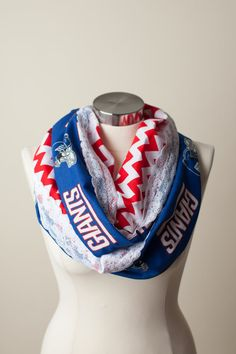 An http://www.GogelAutoSales.com RePin     New York Giants NFL Infinity Scarf on Etsy, $26.00     We'd Love you to Like us on FB! https://www.facebook.com/GogelAuto  Since 1962, Rt. 10, East Hanover
