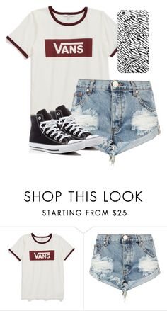 """""""Vans"""" by melw44 ❤ liked on Polyvore featuring Vans, One Teaspoon and Converse"""