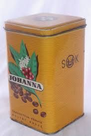 Vintage coffee tin, Finland