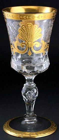 ** Sklenička na víno - sklo J. &. L. Lobmeyr r.1950 **