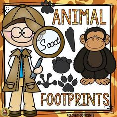 TeachToTell  from  ANIMAL FOOTPRINTS SCOOT: COLORED FOOTPRINTS on TeachersNotebook.com -  (20 pages) - Students need to observe the footprint on each card and write the name of the animal it belongs to. Animal picture cards included to target differentiation.