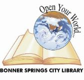 This public library has book trailers to view. Library Logo, City Library, Library Ideas, Bonner Springs, Spring City, Media Specialist, Book Trailers, Books For Teens, Media Center