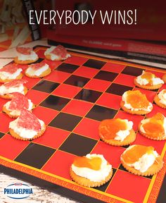 Turn family board game night into a real treat with edible game pieces! Just use crackers, spread with Philadelphia Light Cream Cheese, and finish with your favourite toppings like pepperoni or jam.
