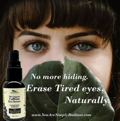 Bye, Bye Dark Circles! All in one anti-inflammatory, caffeine and argireline rich hydrating, firming, smoothing, brightening eye serum.  30% OFF ALL AntiAging Products starting tomorrow!  All Natural. Organic. Vegan.  www.YouAreSimplyRadiant.com  #OrganicSkincare #VeganSkincare #NaturalSkincare #CrueltyFree #Healthy #holistic #caffeine #EyeSerum #Wakeup #Natural #AllNatural #Vegan #Organic #Skincare #Beautiful #Glowing #Radiant #Skin #Antiaging #ecofriendly #womenowned #handmade…