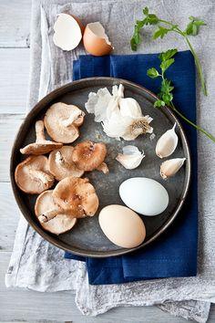 Scrambled Egg Tartines with Parsley & Garlic Mushrooms {Via Tartelette}