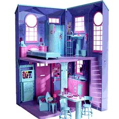 blue and purple barbie folding house - Google Search