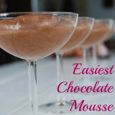 The EASIEST chocolate mousse!