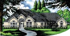 New American House Plan with 2333 Square Feet and 4 Bedrooms from Dream Home Source | House Plan Code DHSW54992