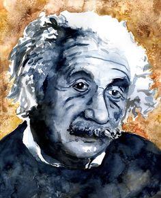 Albert Einstein watercolor