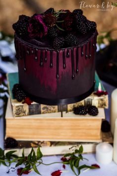 No Recipe. just a really beautiful cake~ Gothic Wedding Cake Black and Red Colorado Springs Denver Wedding Cakes - Flower and Ivy Photography wedding cake with cupcakes Pretty Cakes, Beautiful Cakes, Amazing Cakes, Beautiful Cake Designs, Food Cakes, Cupcake Cakes, Gothic Wedding Cake, Elegant Wedding, Rustic Wedding