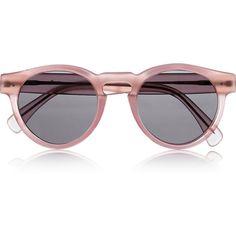 Illesteva Leonard round-frame matte-acetate sunglasses ($205) ❤ liked on Polyvore