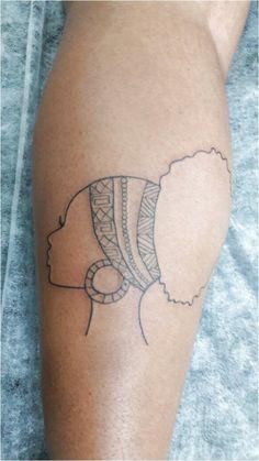 Afro tattoo from texture Simplistic Tattoos, Unique Tattoos, Beautiful Tattoos, New Tattoos, Body Art Tattoos, Small Tattoos, Girl Tattoos, Dope Tattoos, Black Girls With Tattoos