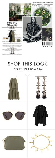 """""""I don't care what you think of me, unless you think I am awesome, in which case, you are right."""" by miky94 on Polyvore featuring moda, H&M, René Caovilla, Christian Dior, Chicnova Fashion, Furla e Forever 21"""