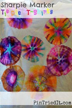 Sharpie Marker Tie Dye T-shirts