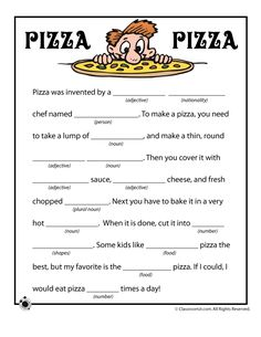 Summer Mad Libs Pizza Pizza Funny Mad Libs – Classroom Jr.
