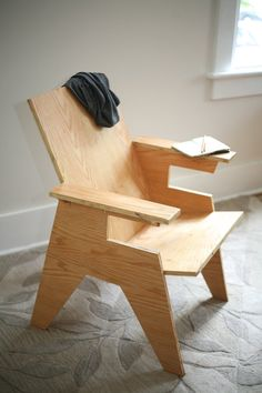Modern Plywood Chair by Studio 8O5 on Etsy (RE-PINNING THIS , JUST WANT TO SAY BE SURE AND DON'T COPY IT EXACTLY ! DON'T GET SUED FOR COPYRIGHT INFRINGEMENT ! DB.)