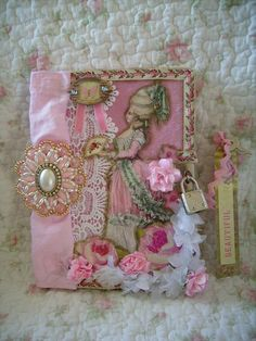 diary,altered art,french,cottage,shabby,cottage,victorian,marie antoinette,lock, journal 2