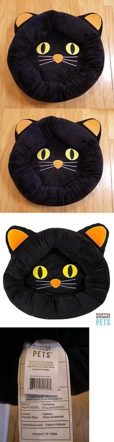 Beds 66762: New! Martha Stewart Pets Black Cat Halloween Round Bolster Dog Cat Pet Bed 20 -> BUY IT NOW ONLY: $65 on eBay!