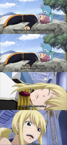 Lucy and Future Lucy | Subtle Nalu in Fairy Tail Episode 200 by strawberrynerd17 on ...