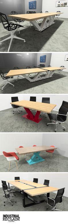 100% custom tables. Handmade in the USA. IndustrialReclaim.com