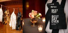 black & gold wedding details | Cait & Bill's black and gold, DIY Washington DC wedding at Carnegie Institution for Science | Images: Stephen Gosling Photography