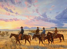 Riding out to meet the day.  Tim Cox
