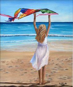 Summer Art, Beach Mat, Outdoor Blanket, Outdoor Decor, Home Decor, Art Oil, Oil On Canvas, Artworks, Decoration Home