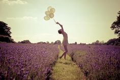 Purple Flowers and Flying